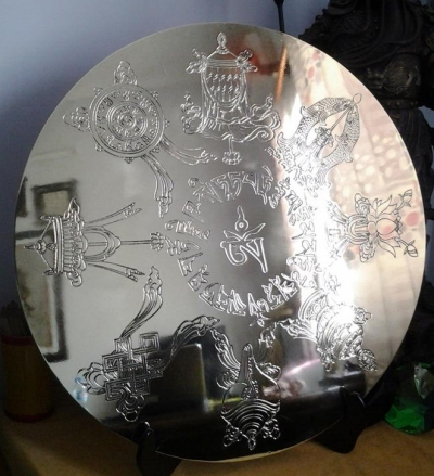 Gương đồng cửu long bát bửu PK25