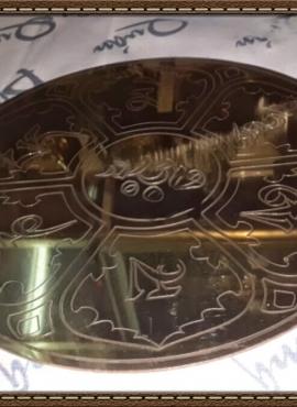 Gương đồng bát bửu lục tự PK24